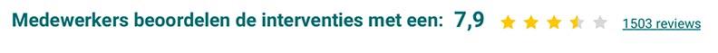 Medewerkers beoordelen de interventies met een 7,9